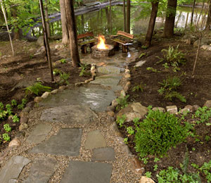 pavers in garden